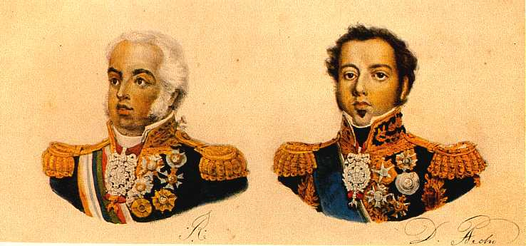 Prince regent John and his son Peter